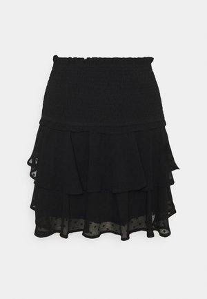ONLLINA SKIRT - Mini skirt - black