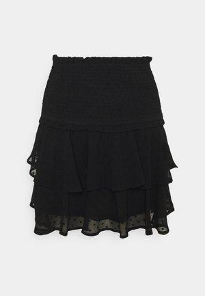 ONLLINA SKIRT - Miniskjørt - black
