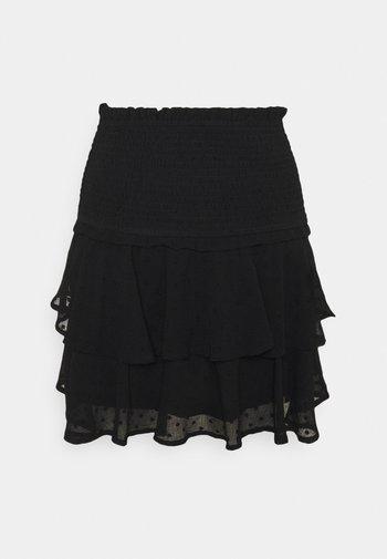 ONLLINA SKIRT - Mini skirt - black