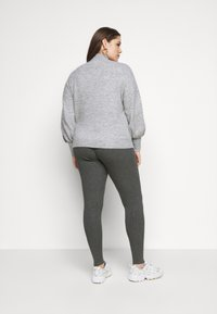 Even&Odd Curvy - Leggings - Trousers - mottled dark grey - 2