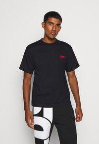 GCDS - BASIC TEE - Basic T-shirt - black - 0