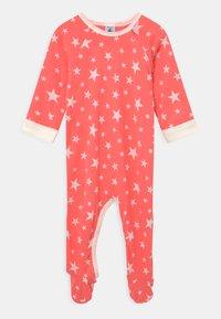 Petit Bateau - DORS BIEN ZIP UNISEX - Sleep suit - peachy/marshmallow - 0