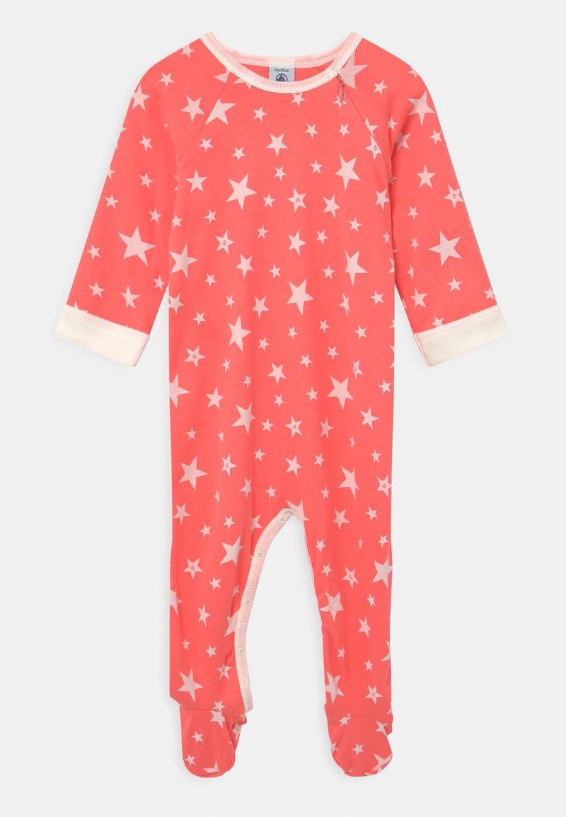 Petit Bateau - DORS BIEN ZIP UNISEX - Sleep suit - peachy/marshmallow