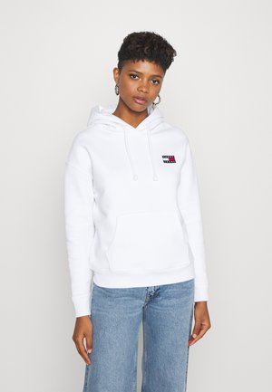 BADGE HOODIE - Sweat à capuche - white