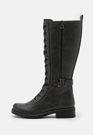 Šněrovací vysoké boty - grey
