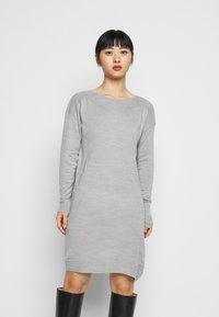 ONLY Petite - ONLAMALIA DRESS - Jumper dress - light grey - 0