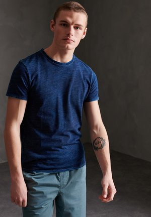 Basic T-shirt - indigo texture