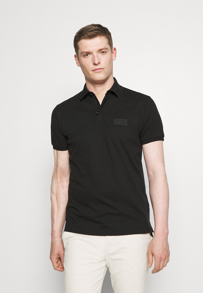 Tommy Hilfiger - SIGNATURE ZIP - Polo shirt - black