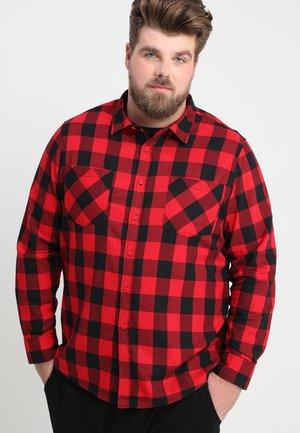 CHECKED - Skjorta - black/red
