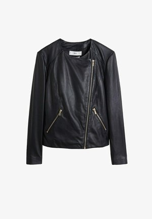 FELIPA6 - Leather jacket - schwarz