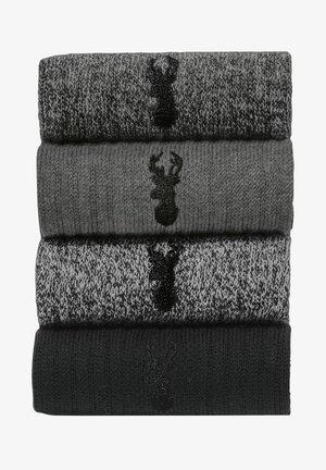 HEAVYWEIGHT FOUR PACK - Ponožky - grey
