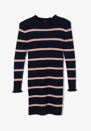 MIT STREIFENMUSTER - Gebreide jurk - dark blue stripes
