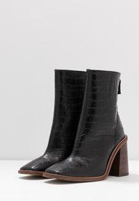 Topshop - HERTFORD BOOT - High heeled ankle boots - black - 4