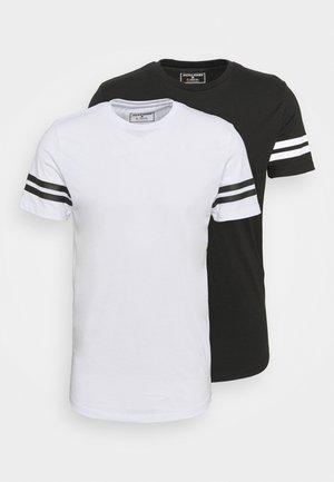 JCOZDOUBLE STRIPE TEE 2 PACK - T-shirts print - black/white