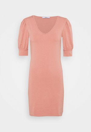 ONLEMMA PUFF SLEEVE - Jersey dress - old rose
