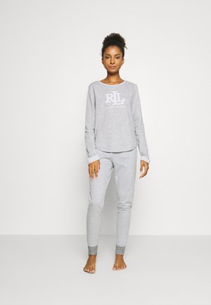 SET - Pyjama set - light grey/white