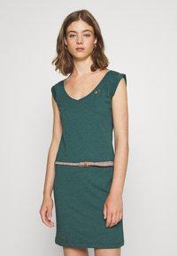 Ragwear - SLAVKA - Žerzejové šaty - dark green - 0