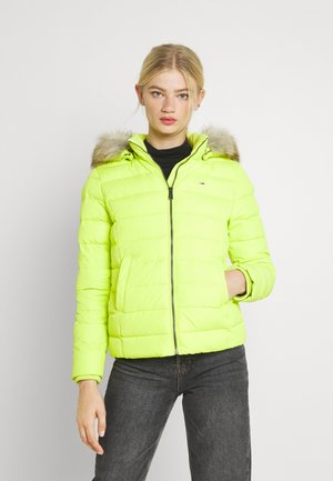 BASIC HOODED JACKET - Giacca invernale - neo lime