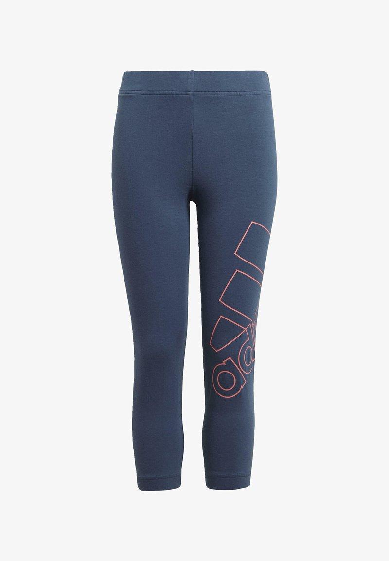 adidas Performance - ADIDAS ESSENTIALS LOGO 7/8 LEGGINGS - 3/4 sports trousers - blue