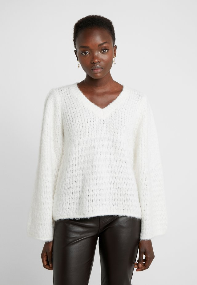 CARESS V NECK - Maglione - cream