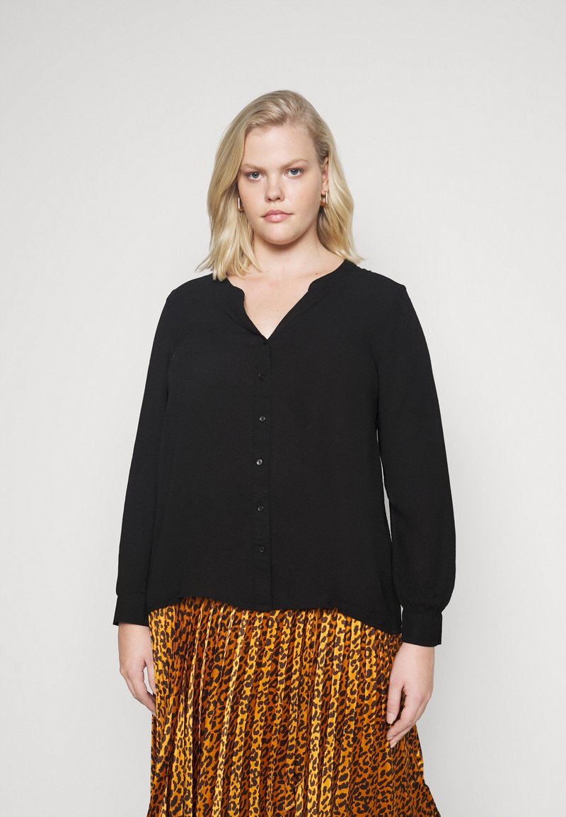 Vero Moda Curve - VMISABELLA NORMAL SHIRT CURVE - Blouse - black