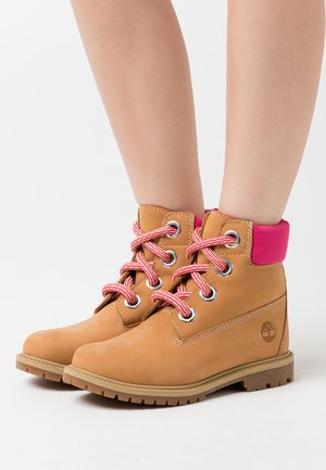 CONVENIENCE LACE BOOT - Lace-up ankle boots - wheat