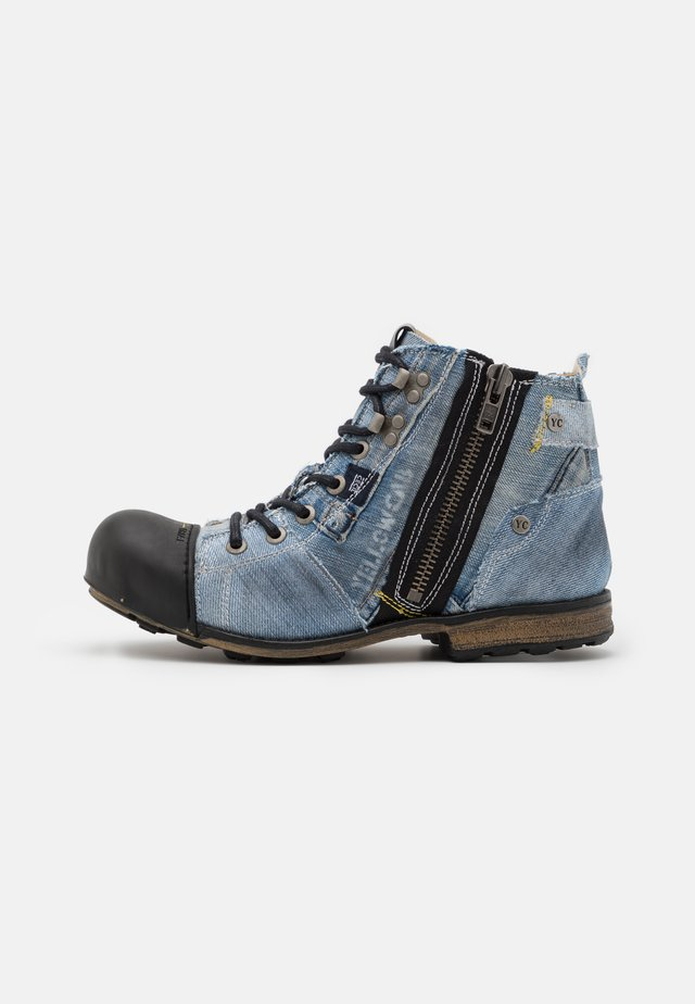 INDUSTRIAL - Lace-up ankle boots - yeans