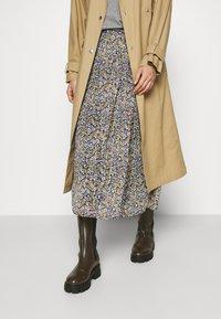 NAF NAF - BETTY - Maxi skirt - betty bleu marine - 3