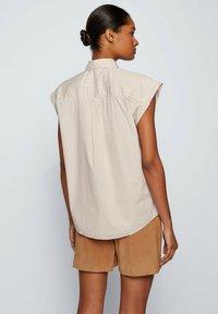 BOSS - BEMIRTA - Button-down blouse - beige - 2
