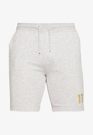 TAPED - Tracksuit bottoms - light grey marl/gold