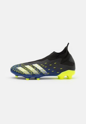 PREDATOR FREAK .3 FG - Moulded stud football boots - core black/footwear white/solar yellow