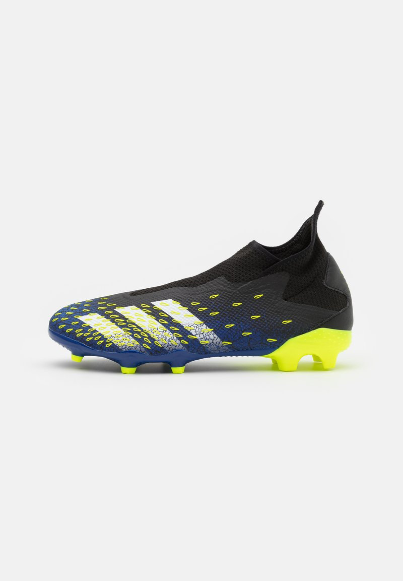 adidas Performance - PREDATOR FREAK .3 FG - Tekonurmikengät - core black/footwear white/solar yellow