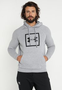 Under Armour - RIVAL LOGO HOODY - Sweat à capuche - steel light heather/black - 0