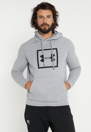 RIVAL LOGO HOODY - Hoodie - steel light heather/black