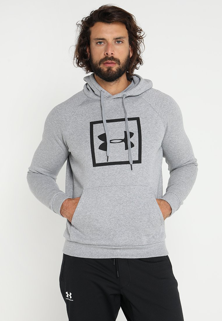 Under Armour - RIVAL LOGO HOODY - Sweat à capuche - steel light heather/black