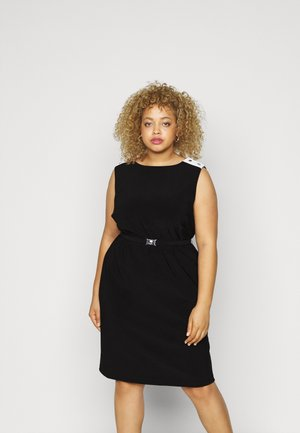 STIELER SLEEVELESS DAY DRESS - Jersey dress - black