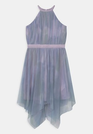 HIGH NECK HANKY HEM - Vestido de cóctel - blue watercolour