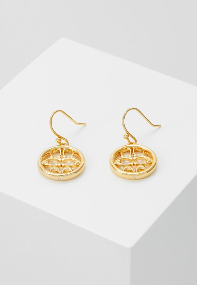 PIERCED SIG DROP EARRINGS - Kolczyki - gold-coloured
