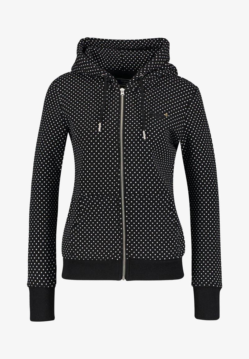 Superdry - MIT KAPUZE - Zip-up hoodie - schwarz