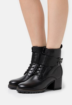 BOOTS RELAXED FIT - Lace-up ankle boots - black
