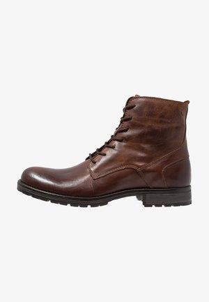 JFWORCA  - Lace-up ankle boots - cognac
