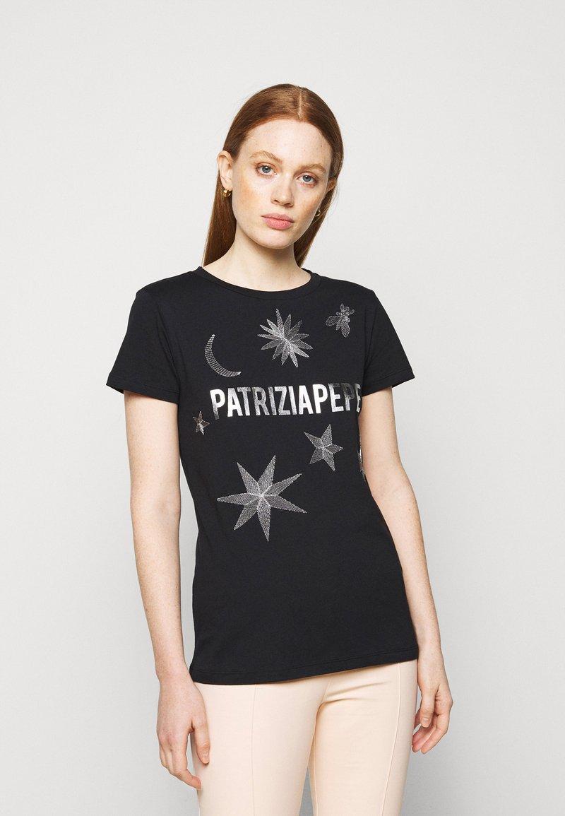 Patrizia Pepe - MAGLIA - T-shirt imprimé - nero