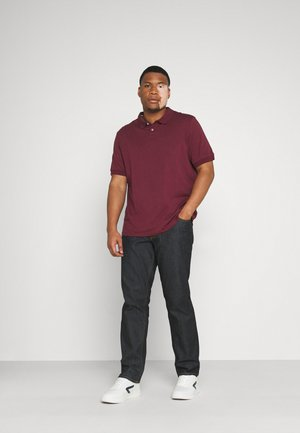 Polo shirt - black/bordeaux