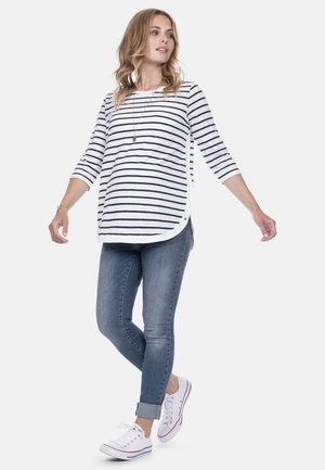 Long sleeved top - navywht