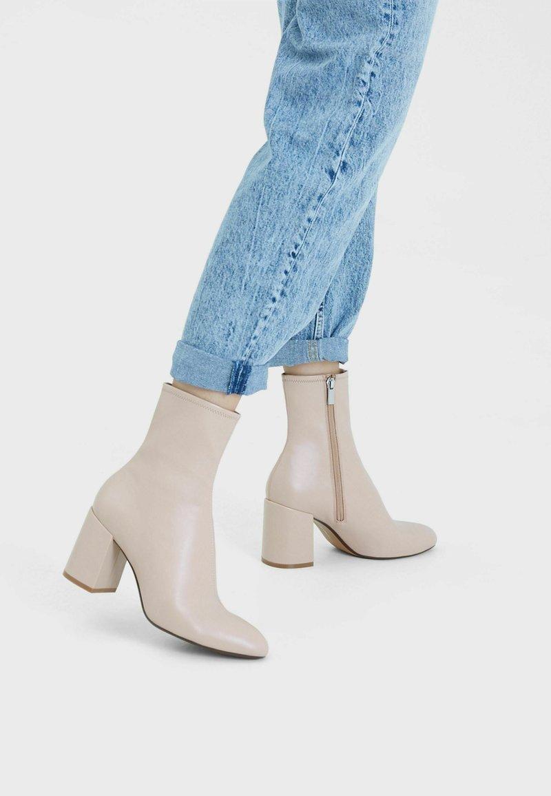 Bershka - Classic ankle boots - stone
