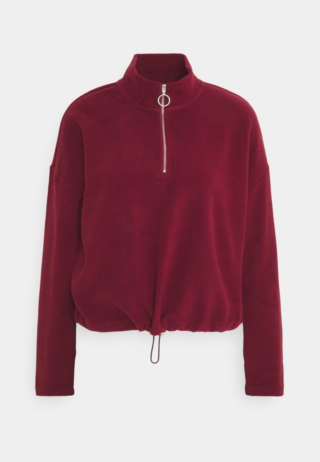 NMMISSER CROPPED NEW - Fleece jumper - zinfandel
