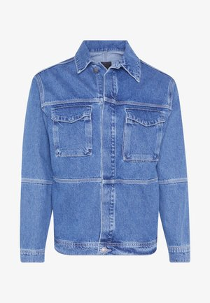 CONTRAST THREAD WORK SHIRT - Cowboyjakker - blue