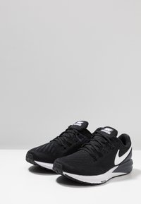 Nike Performance - AIR ZOOM STRUCTURE  - Stabilty running shoes - black/white/gridiron - 2