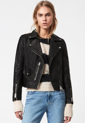 KARA  - Leather jacket - black