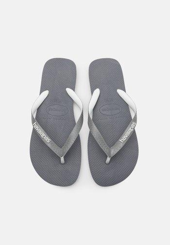 TOP MIX UNISEX - T-bar sandals - steel grey